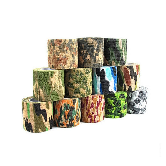 Waterproof Camouflage Adhesive Tape Rifle Chasse Hunting Accessories Camping Hiking Army Army Camo Bionic Wrap Outdoor New