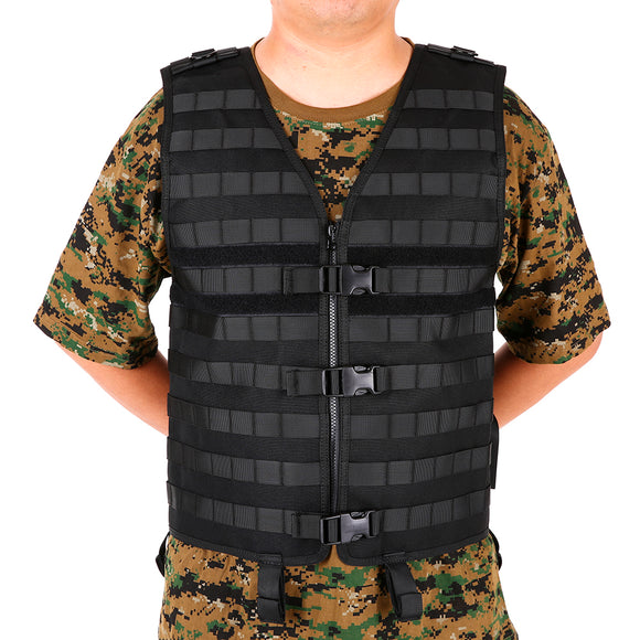 Outdoor Men's Molle Tactial Vest Hunting Fishing Hydration Pocket