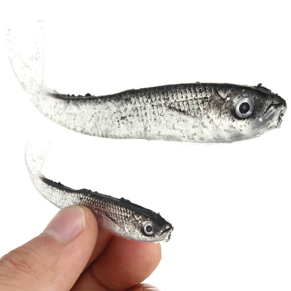 Soft Silicone Tiddler Bait Fluke Fish Saltwater Lures Fishing Tackle