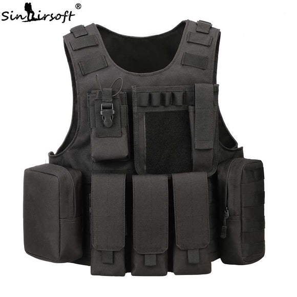 Tactical Professional Amphibious Vest Airsoft Tactical Military Gear Molle Combat Assault Plate Carrier Army Hunting Swat Vest