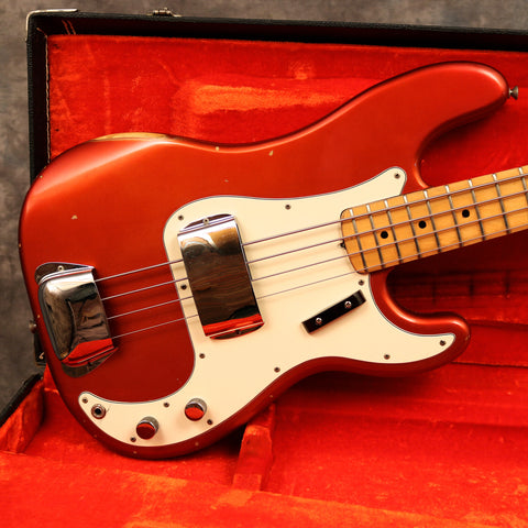 1972 Fender Precision Bass, Candy Apple red