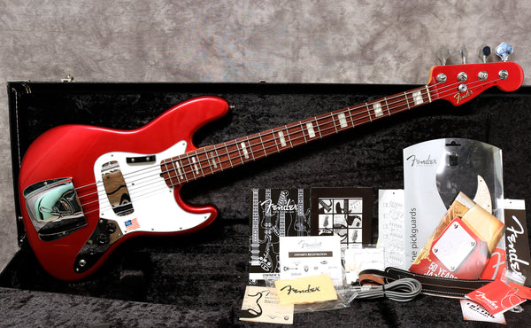 2010 Fender 50th Anniversary Jazz Bass, Candy Apple Red