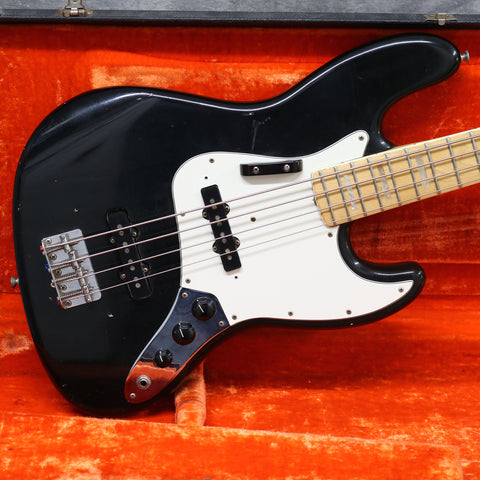 1974 Fender Jazz Bass, Black, Pearl Inlays