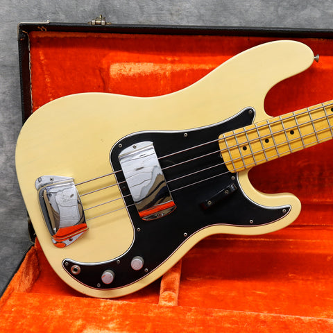 1966 Fender Precision Bass, Blonde, Slab Body