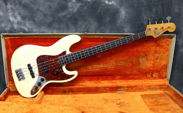 1964 Fender Jazz Bass, Olympic White Refinish
