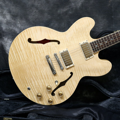 2012 Gibson ES-335 Dot, Natural, Flame Top