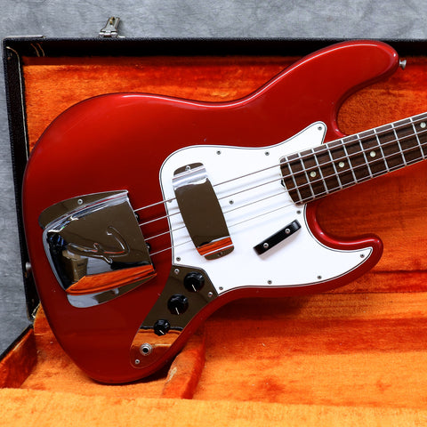 1966 Fender Jazz Bass, Candy Apple Red - Dot & Bound
