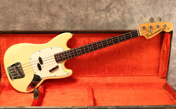 1974 Fender Mustang Bass, Olympic White