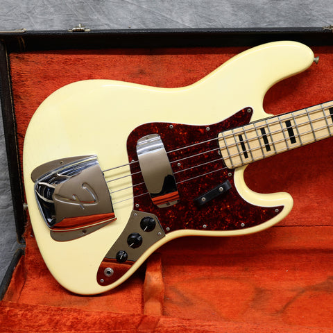 1973 Fender Jazz Bass, Olympic White