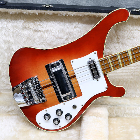 1973 Rickenbacker 4001, Fireglo - Checkered Binding