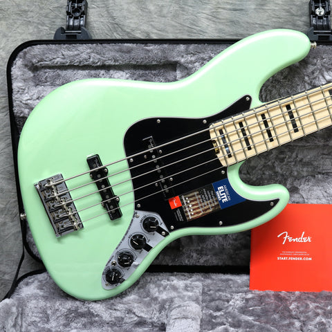 2018 Fender Ltd Edition American Elite Jazz Bass 5 Surf Pearl