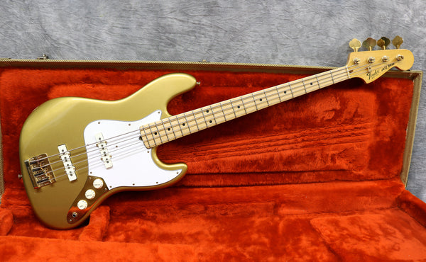1982 Fender Collectors Edition Jazz Bass, Gold On Gold