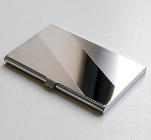 Xiniu  Business ID Credit Card Holder Stainless Steel Silver Aluminiumclutch male cartera hombre #XYJ