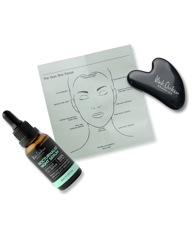 Black Obsidian Gua Sha, The Gua Sha Facial