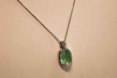 Tourmaline Necklace with Brilliants