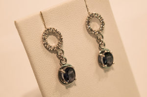 Spinel Earrings with Brilliants