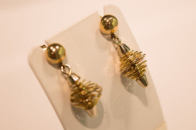 Yellow & White Gold Earrings