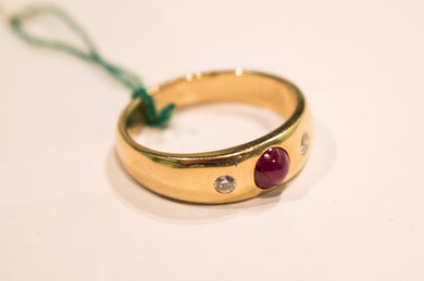 Ruby Ring with Brilliants