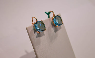 Gold Earrings with Topaz