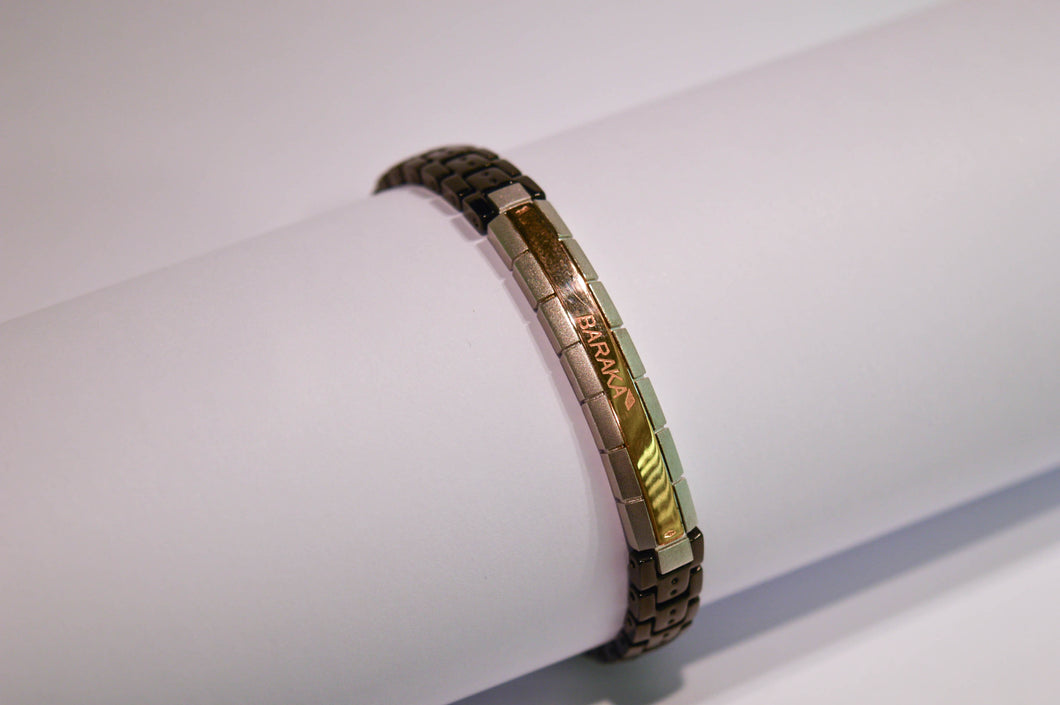 Gold, Silver and Stainless Steel Bracelet
