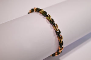 Black Ceramic and Rose Gold Bracelet