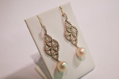 Pearls Earrings with Brilliants