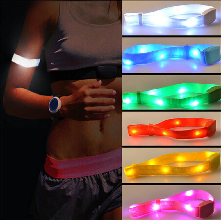 LED Flash Bracelet Wrist Ring For Night Running