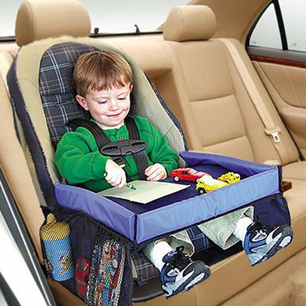Kids Waterproof table Car Seat Tray & Storage 5 Colors available.
