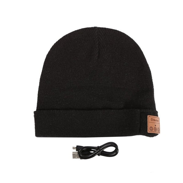Men`s Soft Beanie, Wireless Bluetooth, Smart Headset built in Head phone Speakers Mic Hat.