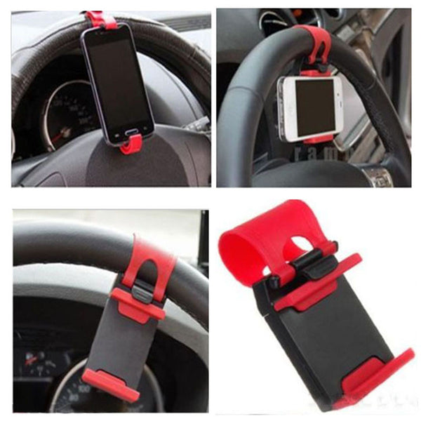 Universal Car Auto Steering Wheel Cell Phone Holder.
