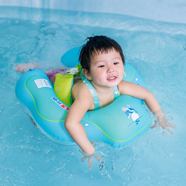 Baby Inflatable Pool Float with Backrest and Strap Raft