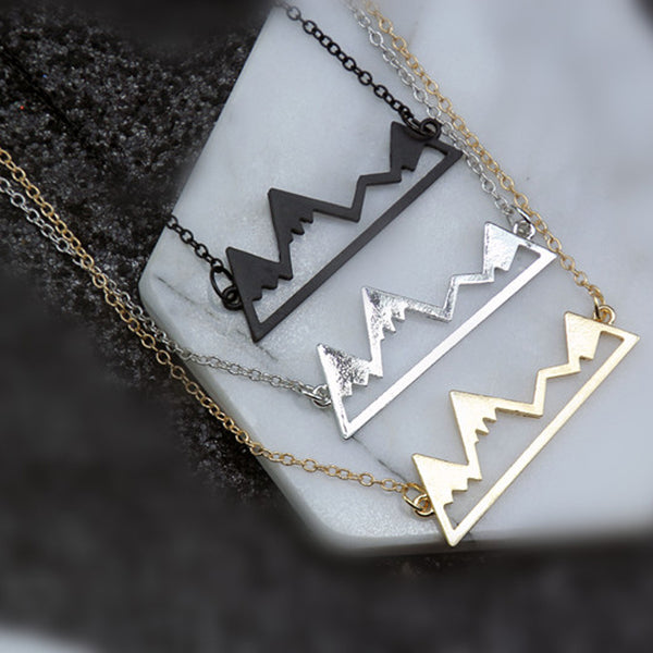 Glacier Snow Mountain Necklace