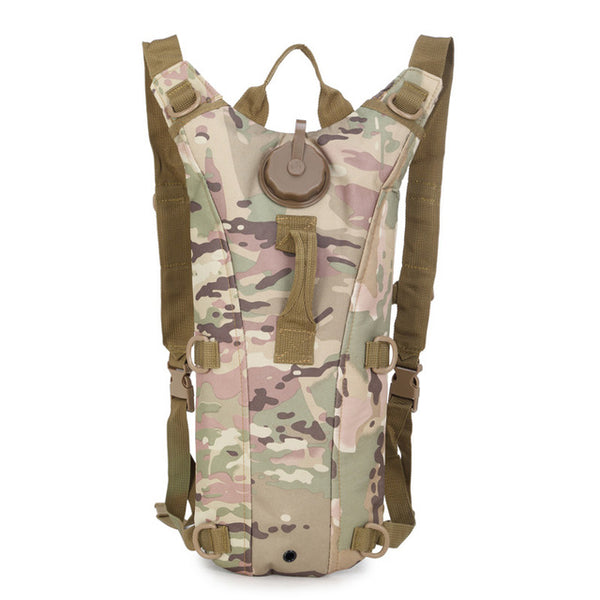 Outdoor 3L Water Bag, Military Tactical Hydration Backpack, Cycling, Camping,