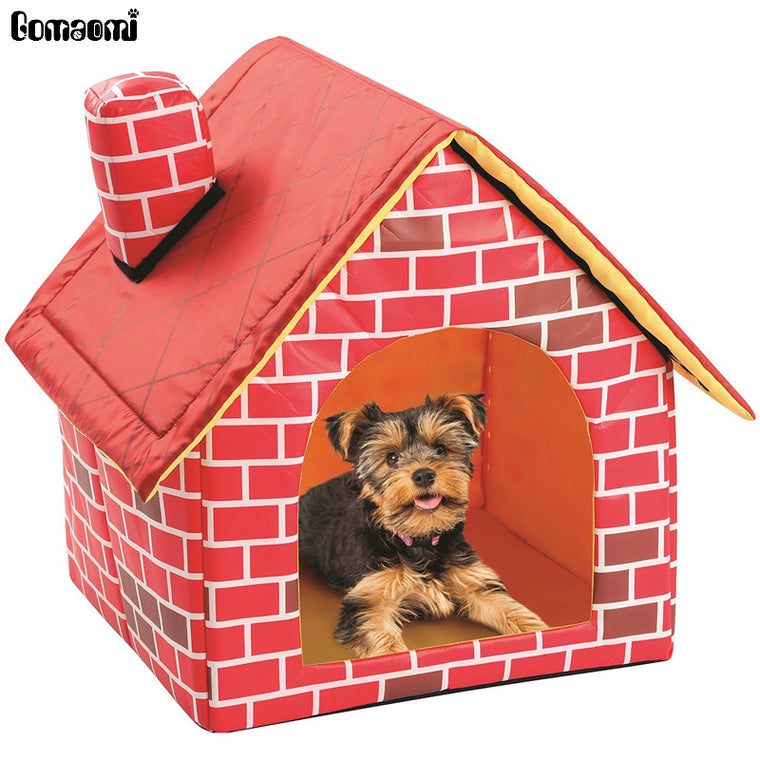 Portable Brick Pet Dog & Cat  House Warm And Cozy Bed.