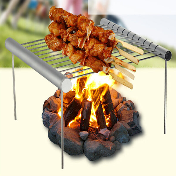 Portable Folding Stainless Steel BBQ Grill