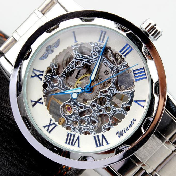 Men's Watch Dial Stainless Steel Mechanical Watch.