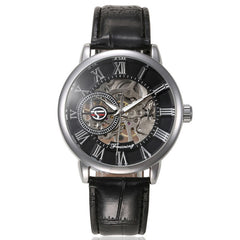 Luxury Mens Steampunk  Stainless Steel Automatic Mechanical Wrist Watch