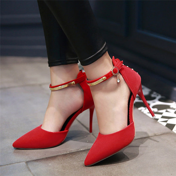 High Heels Ankle Strap Shoes