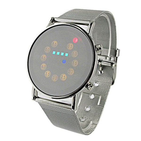 New LED 2018 Stainless Steel Fashion Wrist Watch.