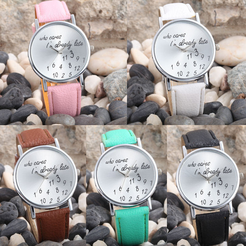 5 PC Fashion, Women Leather Casual Watch, Analog Quartz.