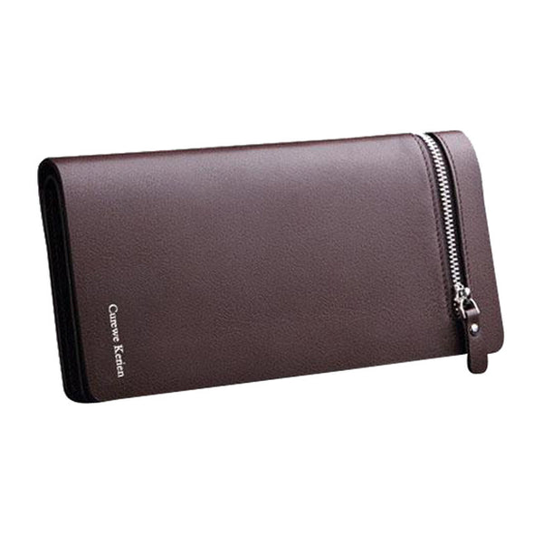 New Design Luxury Business Bi fold Men's leather Wallet, With Zipper Multi functional.