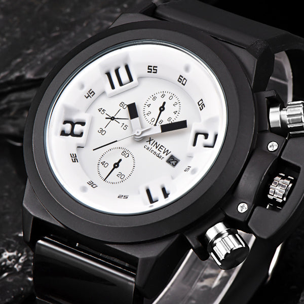 Men`s Fashion Silica Sport  Quartz Wrist Watch Waterproof.