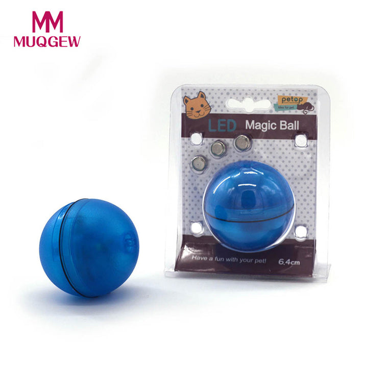 Electronic Rolling Ball With LED Light For Cat or Dog