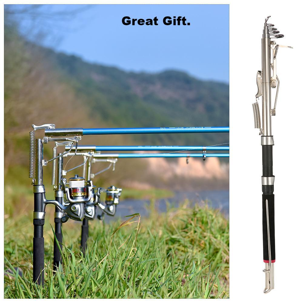 Telescopic Automatic Fishing Rod, Sensitive Fiber Glass Engineering.