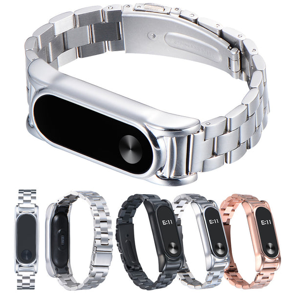 For Xiaomi Mi Band 2 Stainless Steel Luxury Wristband Metal Ultrathin New Strap