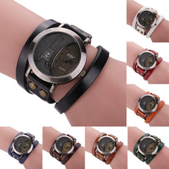 2018 Vintage Brand, Leather Bracelet, Quartz Analog Watch for Men or Women.