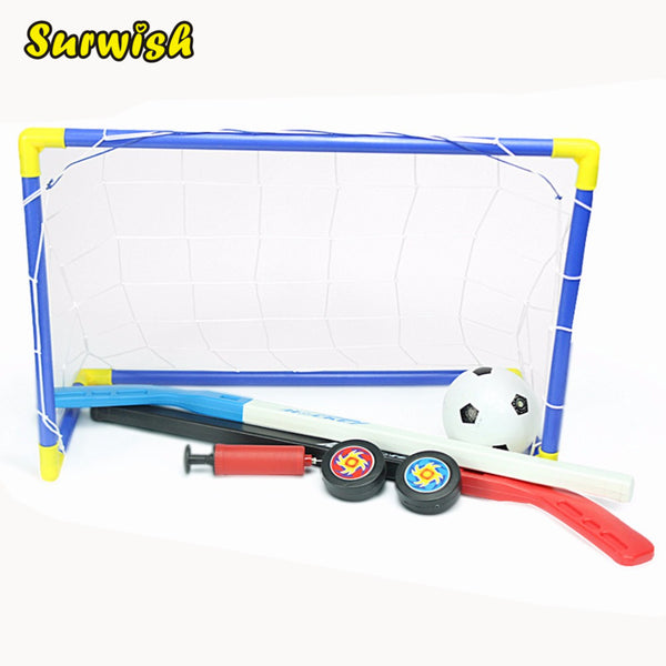 2 in 1 Kids Sports Soccer & Ice Hockey Goals