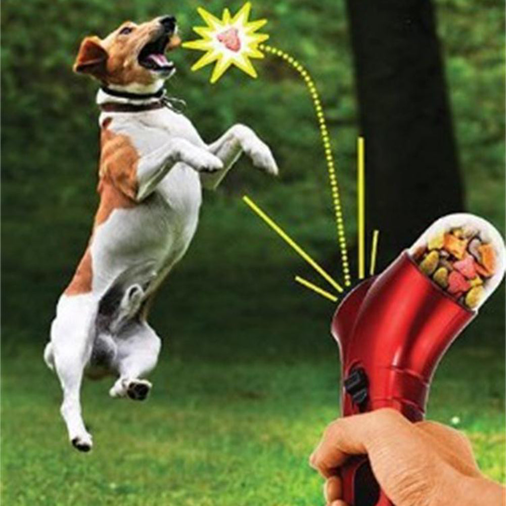 Dog Treat Launcher Training Tool