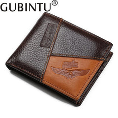 Men Famous Luxury Brand, Genuine Leather, Wallets Coin Pocket Zipper.