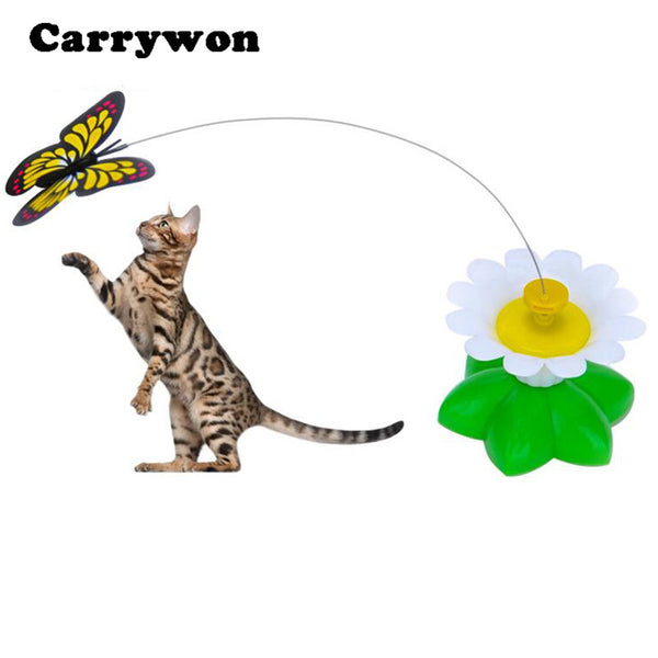 Indoor/Outdoor Electric Rotating Butterfly Cat Teaser Toy